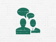 Business concept: Business Meeting on wall background royalty free stock image