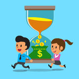 Business concept business people convert time to money Stock Photography