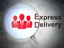 Business concept: Business People and Express Stock Photos