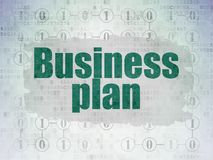 Business concept: Business Plan on Digital Data Paper background. Business concept: Painted green text Business Plan on Digital Data Paper background with Stock Image