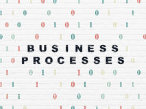 Business concept: Business Processes on wall Stock Images
