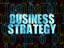 Business concept: Business Strategy on Digital Royalty Free Stock Photography
