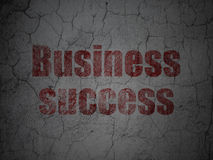 Business concept: Business Success on grunge wall Royalty Free Stock Photo