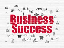 Business concept: Business Success on wall background Stock Photo