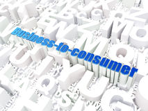 Business concept: Business-to-consumer on alphabet Stock Photo