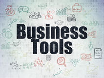 Business concept: Business Tools on Digital Paper Royalty Free Stock Photos