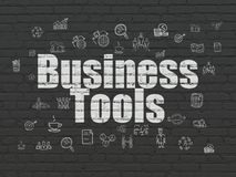 Business Concept: Business Tools On Wall Background Royalty Free Stock Photography