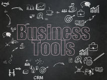 Business concept: Business Tools on School Board Royalty Free Stock Photos