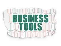 Business concept: Business Tools on Torn Paper Royalty Free Stock Photography