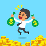 Business Concept Businessman Earn lots of money Royalty Free Stock Photo
