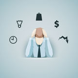 Business concept - Businessman in stress vector Royalty Free Stock Photography