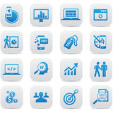 Business Concept buttons,Blue version Royalty Free Stock Images
