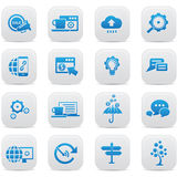 Business Concept buttons,Blue version. Vector Royalty Free Stock Photography