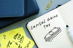 Business concept about Capital Gains Tax with phrase on the page