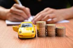 Business concept car insurance or sell and  buy car, car financi Royalty Free Stock Images