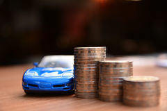 Business concept car insurance or sell and  buy car, car financi Royalty Free Stock Photography