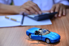 Business concept, car insurance, sell or buy car, car financing, Royalty Free Stock Photo