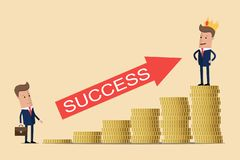 Business concept of career growth. Vector illustration royalty free illustration