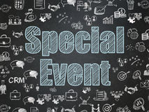 Business concept: Special Event on School board background. Business concept: Chalk Blue text Special Event on School board background with  Hand Drawn Business Stock Photo