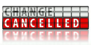 Business concept of change, cancelled Stock Photo