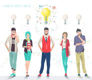 Business concept of choice and searching best idea. Modern vector illustration / Business concept of choice and searching best idea / can be used for websites royalty free illustration