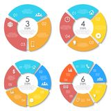 Business concept of circle infographic template Royalty Free Stock Images