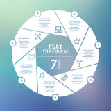 Business concept. Circle puzzle infographic. Template for cycle diagram, graph, presentation and round chart. Vector blur background Royalty Free Stock Images