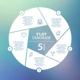 Business concept. Circle puzzle infographic. Template for cycle diagram, graph, presentation and round chart. Royalty Free Stock Images