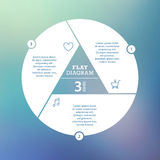 Business concept. Circle puzzle infographic. Template for cycle diagram, graph, presentation and round chart. Stock Photos