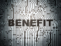 Business concept: circuit board with Benefit. Business concept: circuit board with  word Benefit, 3d render Royalty Free Stock Images