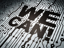 Business concept: circuit board with We Can! Royalty Free Stock Image