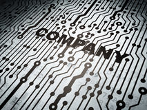 Business concept: circuit board with Company. Business concept: circuit board with  word Company, 3d render Stock Photo