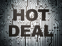 Business concept: circuit board with Hot Deal Royalty Free Stock Photography