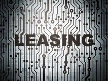 Business concept: circuit board with Leasing Stock Image