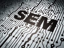 Business concept: circuit board with SEM. Business concept: circuit board with  word SEM, 3d render Stock Photos