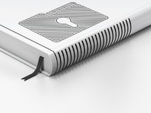 Business concept: closed book, Folder With Keyhole Royalty Free Stock Images