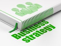 Business concept: book Business People, Business Strategy on white background Royalty Free Stock Photos