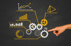 Business concept with cogwheel Stock Photo