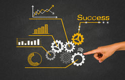 Business concept with cogwheel Royalty Free Stock Photos