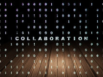 Business concept: Collaboration in grunge dark Royalty Free Stock Images