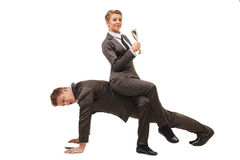 Business concept. Colleagues works in pair Royalty Free Stock Image