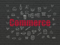 Business concept: Commerce on wall background Royalty Free Stock Photography