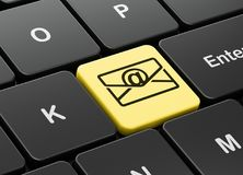 Business concept: Email on computer keyboard background. Business concept: computer keyboard with Email icon on enter button background, 3D rendering Stock Photos