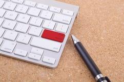 Business concept: computer keyboard enter button background. Stock Photos