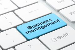 Business concept: Business Management on computer keyboard background Royalty Free Stock Image