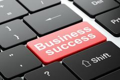Business concept: Business Success on computer keyboard background Royalty Free Stock Photo