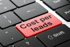 Business concept: Cost Per Leads on computer keyboard background Royalty Free Stock Photo