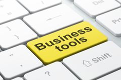 Business concept: Business Tools on computer keyboard background Royalty Free Stock Photography