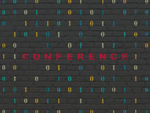 Business concept: Conference on wall background Royalty Free Stock Photography