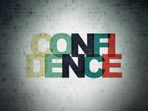 Business concept: Confidence on Digital Data Paper background. Business concept: Painted multicolor text Confidence on Digital Data Paper background Royalty Free Stock Image